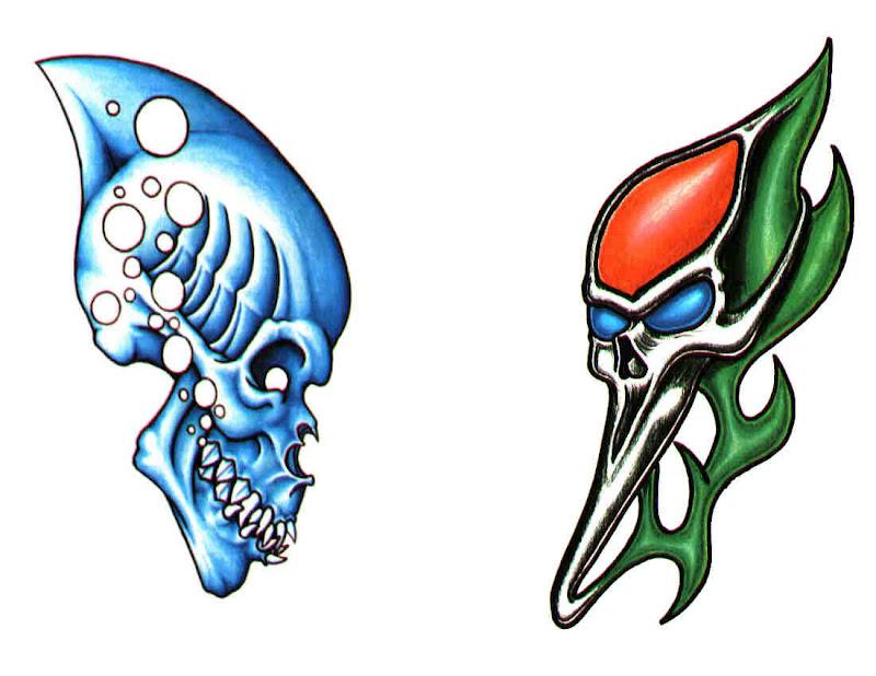 Horror Tattoo Design 4, Fantasy Tattoo Designs