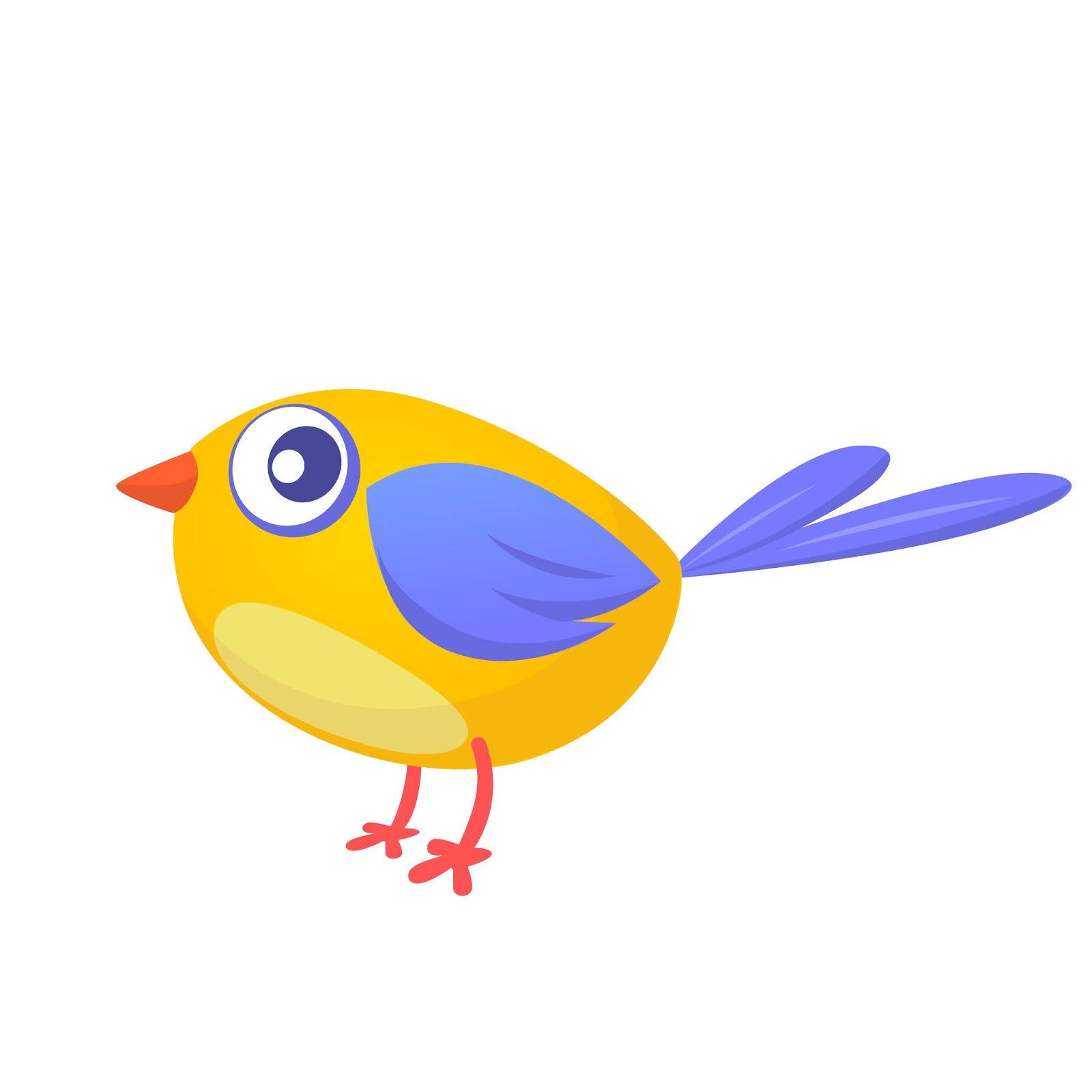 Cartoon Funny Yellow Bird Free Download Vector CDR, AI, EPS and PNG Formats