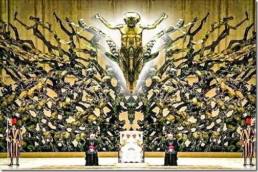 la rsurreción escultura satanica en el vaticano