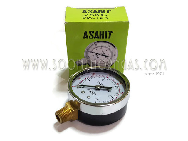เกจ์วัดแรงดันแก๊ส HIGH PRESSURE GAUGE  ASAHIT 25 kg