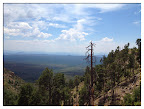 Paseo del Lobo Section 26 view from the Mogollon Rim (Photo by D. Sayre)
