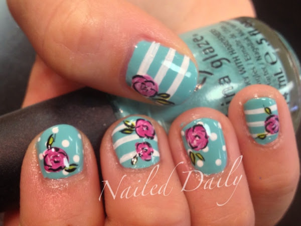 Day 263 - Roses, Stripes and Polka Dots