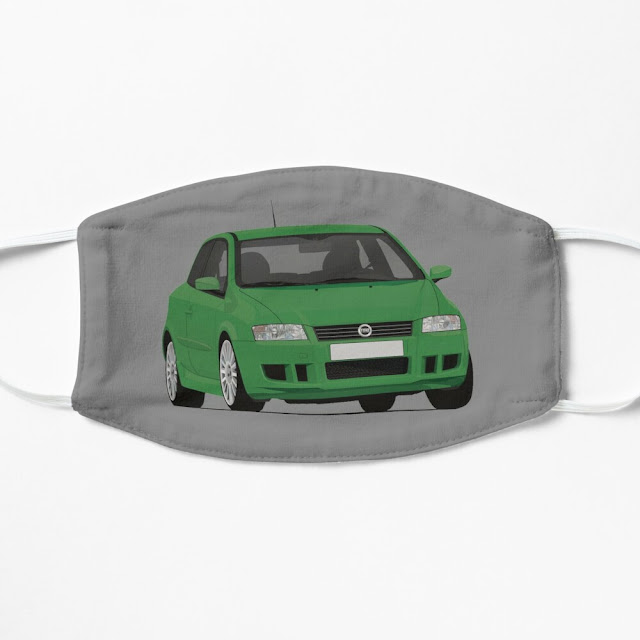 Fiat Stilo Abarth green mask