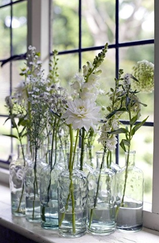 glass flower white