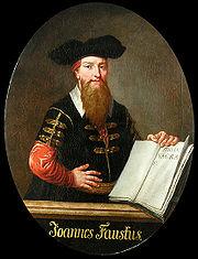 Joannes Faustus Portrait, Johann Georg Faust