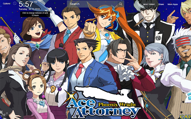 Phoenix Wright Wallpapers Theme New Tab