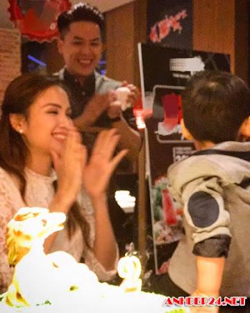 Vợ chồng Diễm Hương mở tiệc sinh nhật cho con trai
