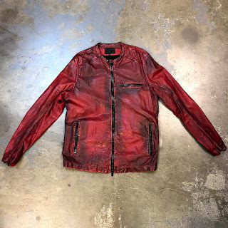 Ari Red Lambskin Leather Jacket