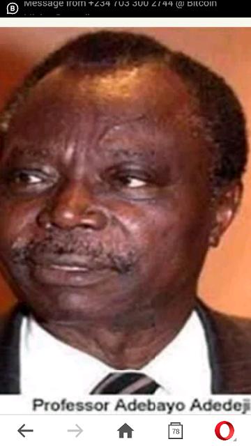 Professor Adebayo Adedeji Is Dead