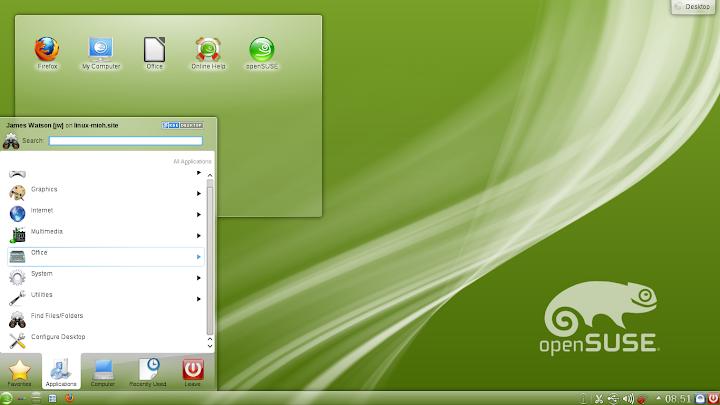openSuSE 12.1 KDE