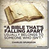 Bible falling apart