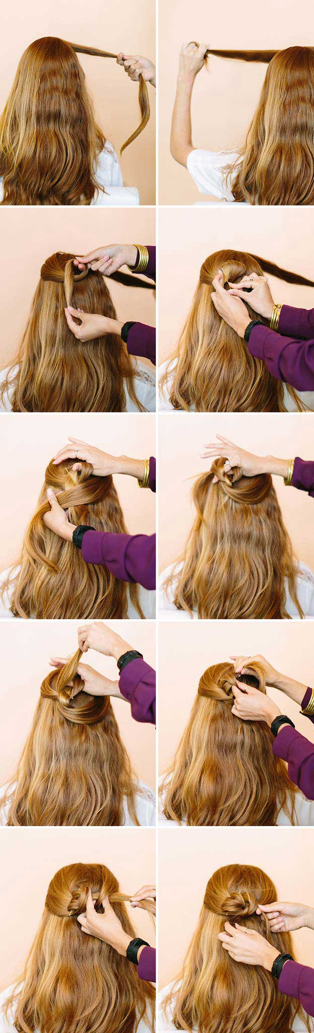 ِAwosome Half up-Half down Hairstyles And TUTORIAL for long hair 8