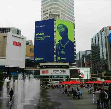 PHOTO: Billboard Featuring Wizkid Spotted In Toronto, Canada