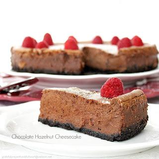 Chocolate Hazelnut Cheesecake.
