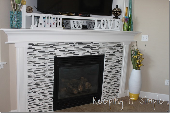 Fireplace Makeover With Mosaic Tiles Keeping It Simple Crafts