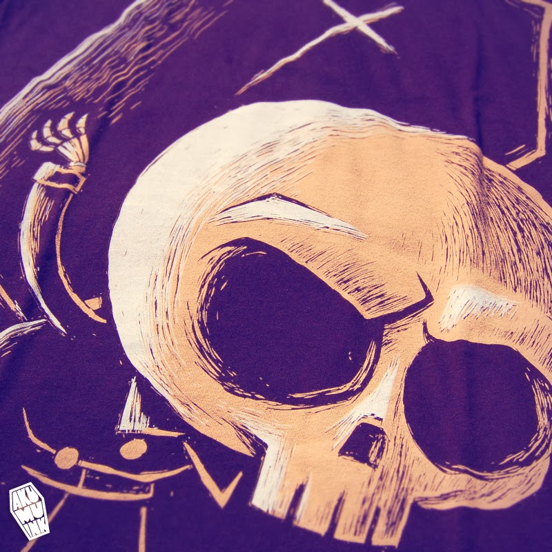 undertaker tshirt, skeleton carrying coffin tshirt, akumuink, akumu, skeleton shirt, skull tshirt, skull art, skeleton artwork, nightmare art, horror chibi, creepy cute art