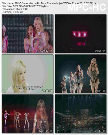 [TV-Variety] Girls' Generation – 4th Tour Phantasia (WOWOW Prime 2016.02.27)