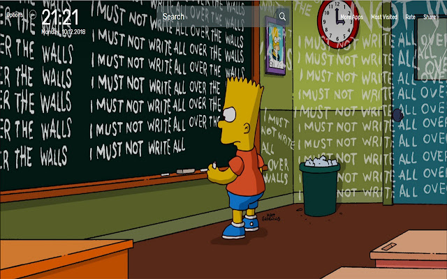 Simpsons Wallpapers NewTab Theme