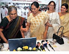 Website launched by Smt. Sudha Murthy, founder Infosys Foundation