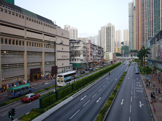 road between the Citywalk shopping centers in Tsuen Wan, Hong Kong