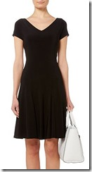 Lauren Ralph Lauren cap sleeve fit and flare jersey dress