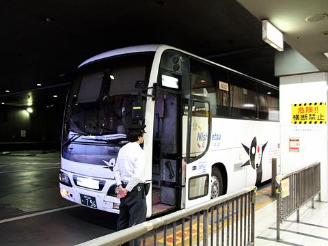 西鉄高速バス「桜島号」夜行便 3802 西鉄天神BC到着 その2