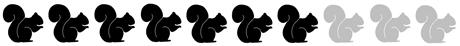 7 squirrels