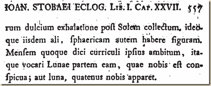 Stobaeus. Eclogae. Anthology 1.GrkLtn.557.S