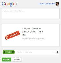 Fenêtre de partage Google+