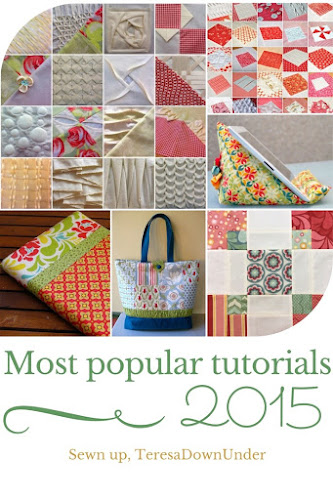 Most popular sewing tutorials - textured quilts, book cover, tablet stand, patchwork tote bag