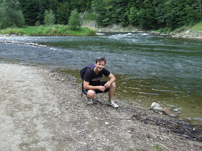 Me fishing for salmonide in Dunajec