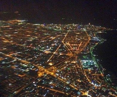 Aerial View: Kuwaits Stadtteil Salmiya mit dem Ras al Ard