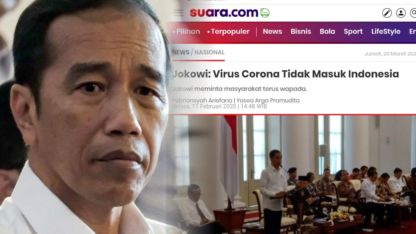 Mengenang Jejak Jokowi yang Yakin Virus Corona Tidak Masuk Indonesia