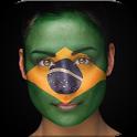 Flag Rio 2016 basketball icon