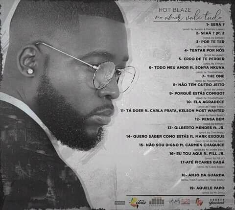 Hot Blaze Album No Amor Vale Tudo Tracklist