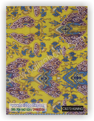 Batik Baju, Grosir Baju Batik, Model Baju Terkini, CB273 KUNING