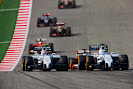 Felipe Massa, Williams FW36 Mercedes, leads Valterri Bottas