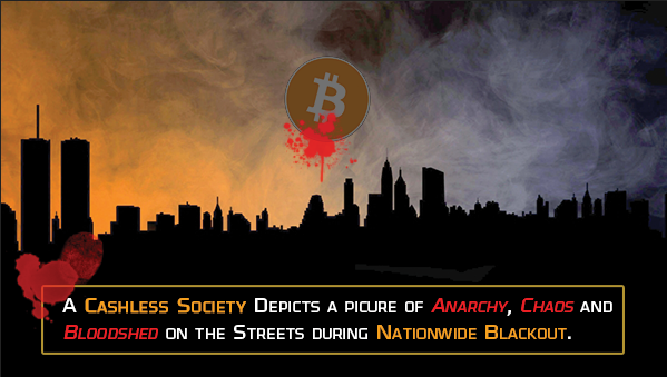 cashless society during blackout depicts picture of anarchy, chaos and bloodshed