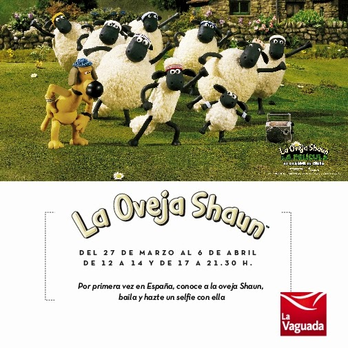 'Shaun the sheep the experience' en La Vaguada, del 27 de marzo al 6 de abril 2015