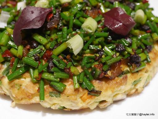 料豐味美有新意,過年聚餐好去處~正月初一新台灣料理 澎厚約三公分的功夫菜韭菜花煎蛋必點!