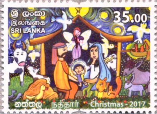 stamps and 1 miniature sheet on 26 november 2017 to commemorate christmas this is a colourful issue designed i presume by children and suitably