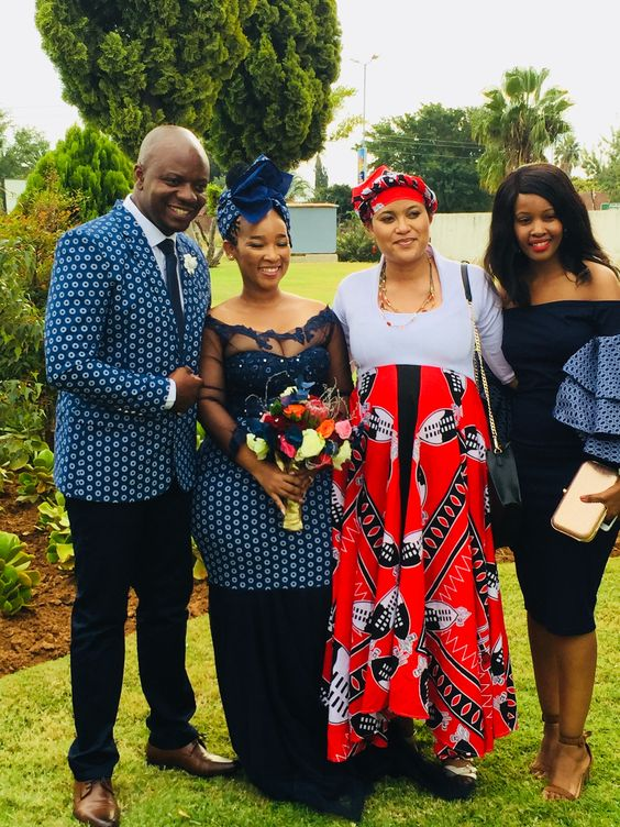 Traditional Shweshwe Wedding Dresses For Woman 4