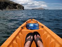 Kayaking around Isla Suasi