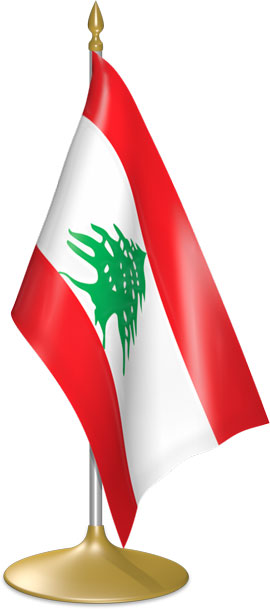 Lebanese table flags - desk flags