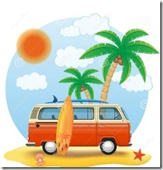 retro-furgoncino-con-un-surf-sull-illustrazione-di-vettore-della-spiaggia-56941603