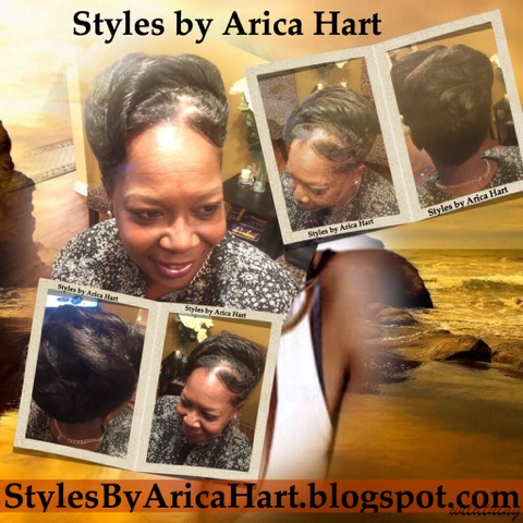 ocean waves, updo hair style