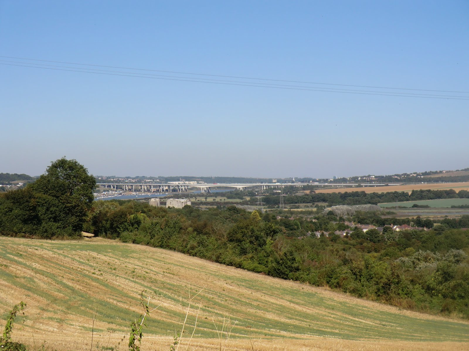 CIMG3935 Distant view of the Medway River Crossings