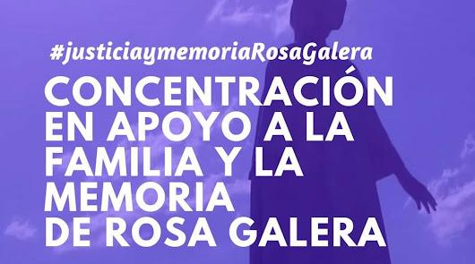 Concentración contra la salida a la calle del asesino de Rosa Galera