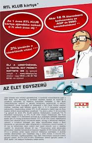 RTL Klub kártya DM levél grafikai tervezése.
