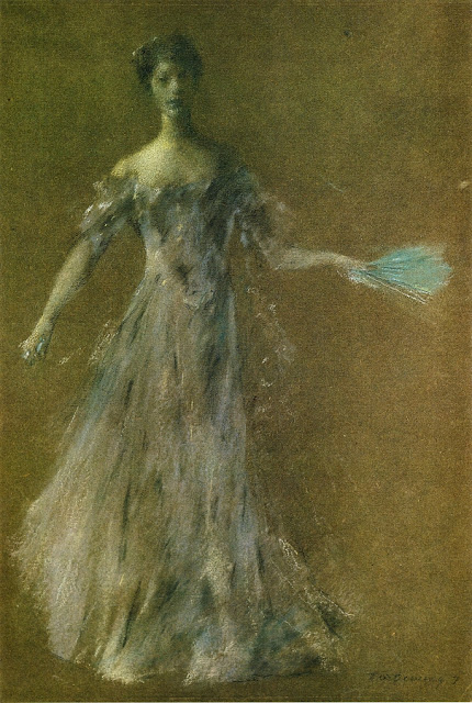 Thomas Dewing - Lady in Lavender Dress